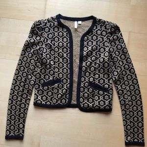 Frenchi Gold and Black patterned Blazer